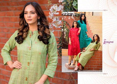 Psyna Presents Paisley Modern And Stylish Cotton Kurti Collection
