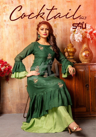 S4u Shivali Cocktail Vol 3 Long Gown Stylish Partywear Collection Single