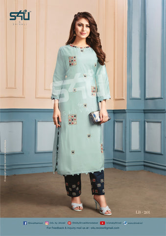 S4u Shivali La Bella Vol 2 Designer Party Wear Kurti With Pants Single Collection