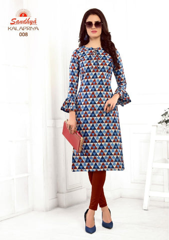 Sandhya Prints Kalapriya Cotton Readymade Kurti Collection