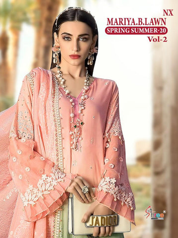 SHREE FABS SPRING SUMMER 20 VOL 2 NX PAKISTANI EMBROIDERED SUIT COLLECTION