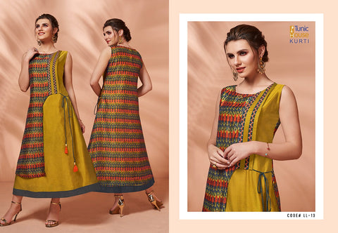 TUNIC HOUSE PRESENTS LIMELIGHT BEAUTIFUL SILK KURTI COLLECTION