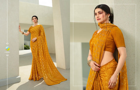 VINAY FASHION PRESENTS GLITTER SILK GEORGETTE SAREE COLLECTION