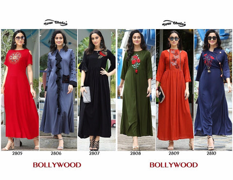 Your Choice Bollywood Rayon Designer Kurti Collection