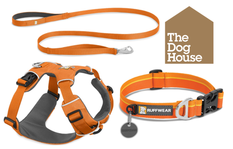 Ruffwear Front Range Hundesele Orange Poppy