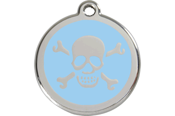 Hundetegn fra Red Dingo, Skull Light Blue