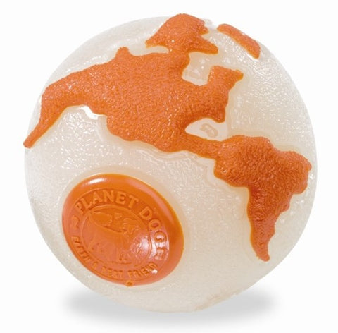 Planet Dog Orbee-Tuff, Verdensbolden Selvlysende & Orange