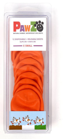 PawZ Hundesko, XSmall (5,1cm) Orange
