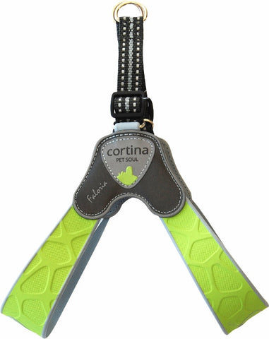 Cortina Faloria Step-In Hundesele, Justerbar Lime
