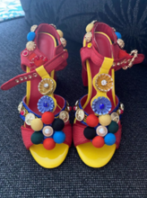 Load image into Gallery viewer, Tribal Fashion Pom-pom Embellished Shoes Sandals