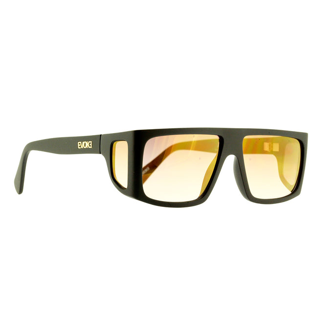 Óculos de Sol Evoke B-Side A12S Black Matte Gold/ Brown Gradient Gold Flash Lente 5,8 cm