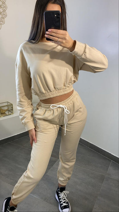 Ensemble jogging [ beige ]