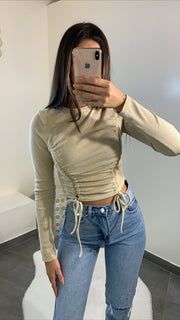 Top à fil [ beige ]