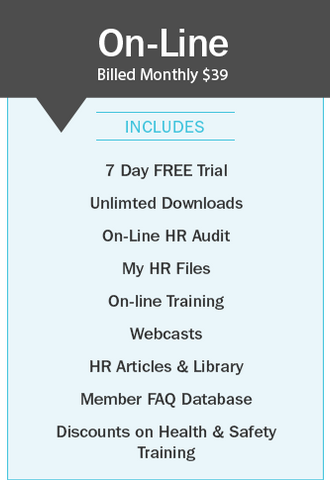 Online HR Monthly Supports