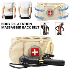 Load image into Gallery viewer, 2-in-1 Lumbar Back Decompression Belt