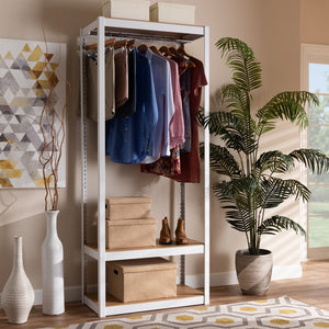 Load image into Gallery viewer, METAL 3-SHELF FREE-STANDING CLOSET STORAGE ORGANIZER