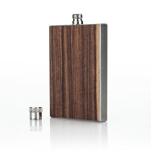 WOOD PANELED FLASK