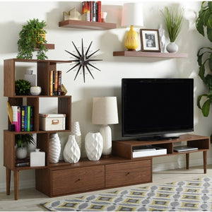 MID-CENTURY RETRO MODERN TV STAND ENTERTAINMENT CENTER AND DISPLAY UNIT