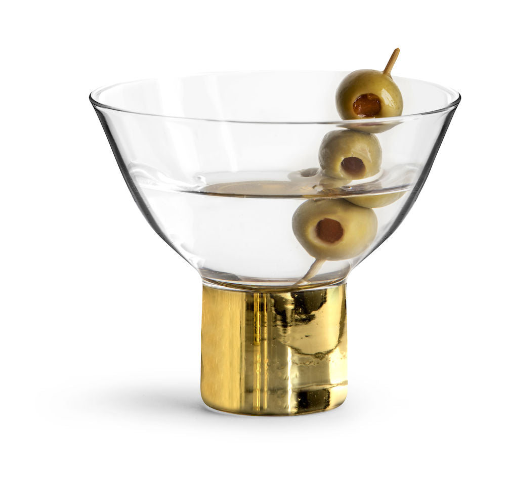 CLUB GOLD COCKTAIL & DESSERT GLASS, 2 PACK