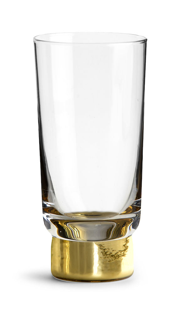CLUB GOLD BEER GLASS, 2 PACK