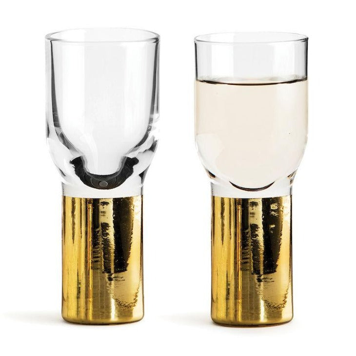 CLUB GOLD SHOT GLASS, 2 PACK