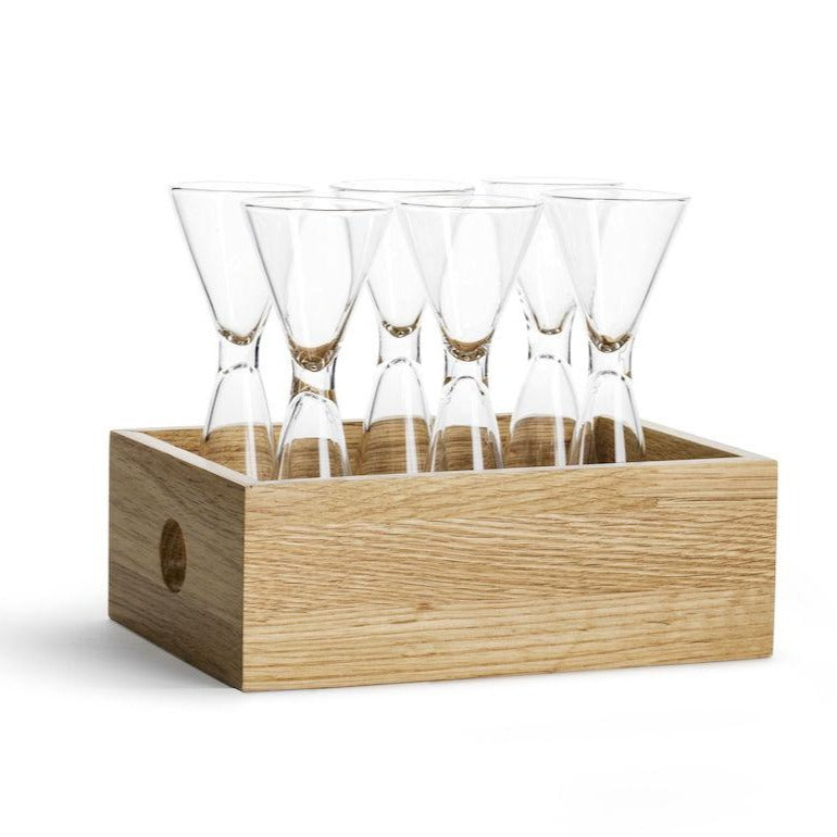 NATURE SHOT GLASS SET WITH STORAGE BOX, 6 PACK