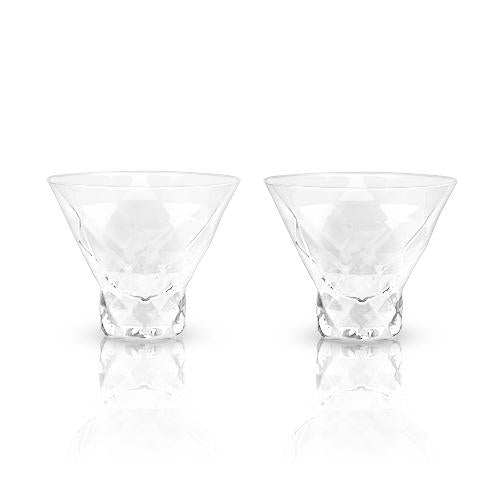 Load image into Gallery viewer, RAYE: GEM CRYSTAL MARTINI GLASSES