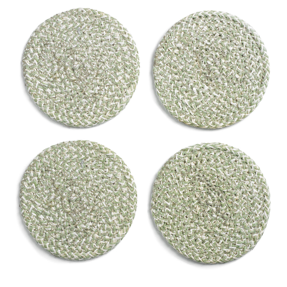 Load image into Gallery viewer, MELIA WOVEN JUTE COASTERS, SET OF 4