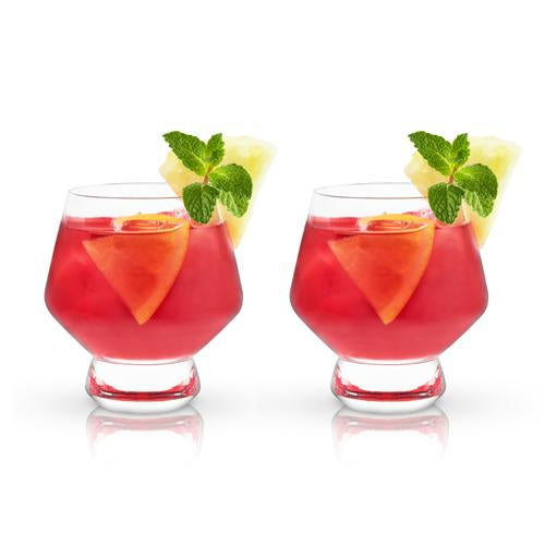 FOOTED CRYSTAL PUNCH CUPS