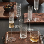 ENDRA GLASS CHAMPAGNE FLUTES, SET OF 4