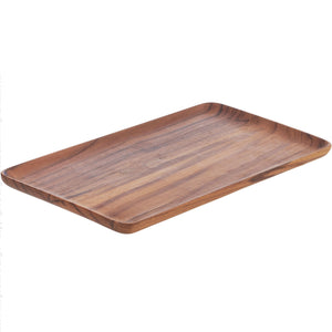 "Load image into Gallery viewer, CHIKU™ TEAK SERVING TRAY, 12"" x 7"""