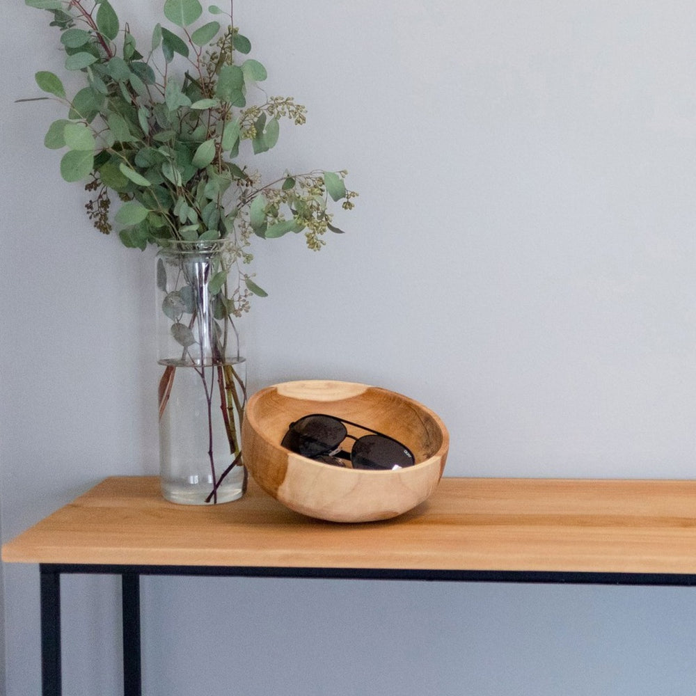 Load image into Gallery viewer, AXIS DECORATIVE TEAK BOWL