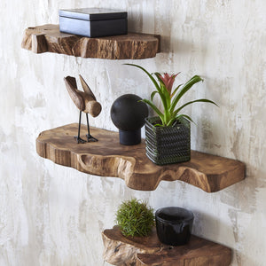 Load image into Gallery viewer, TAKARA LIVE EDGE FLOATING SHELVES