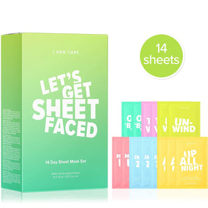 LET'S GET SHEET FACED MASK SET