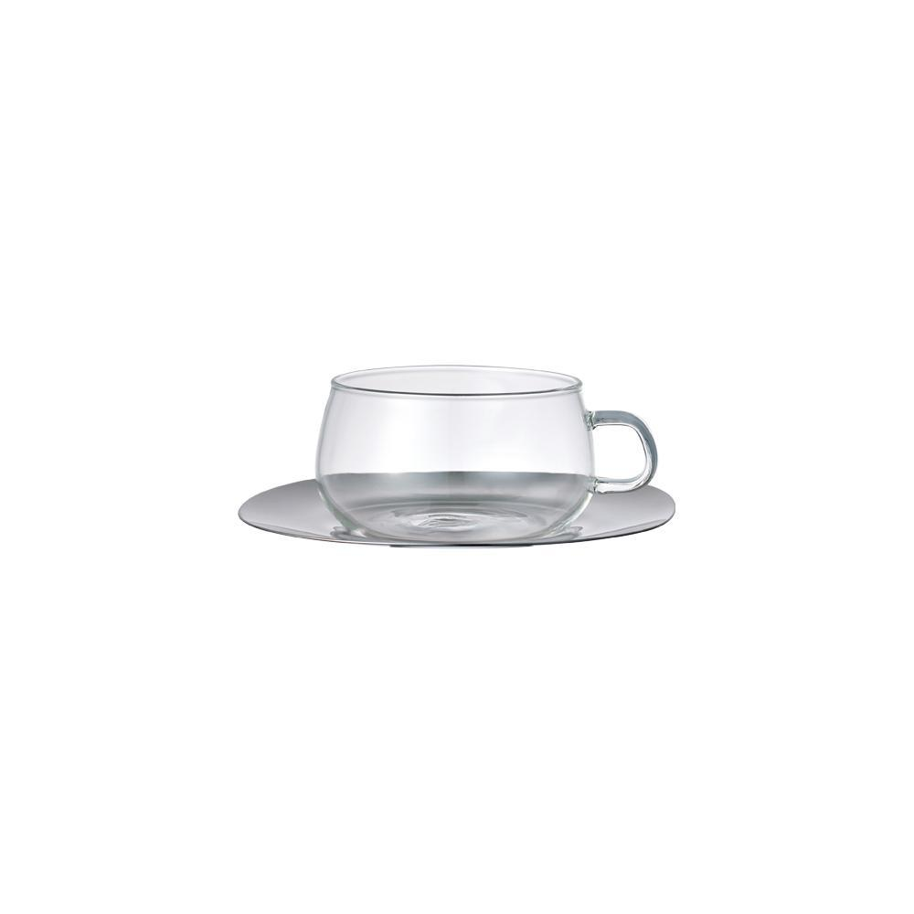 UNITEA CUP & SAUCER 230ML / 8OZ STAINLESS STEEL