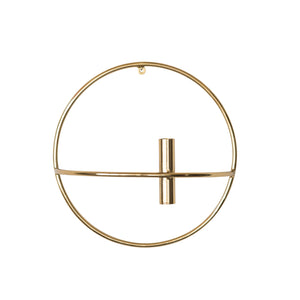METAL WALL TAPER CANDLEHOLDER WITH BRASS FINISH