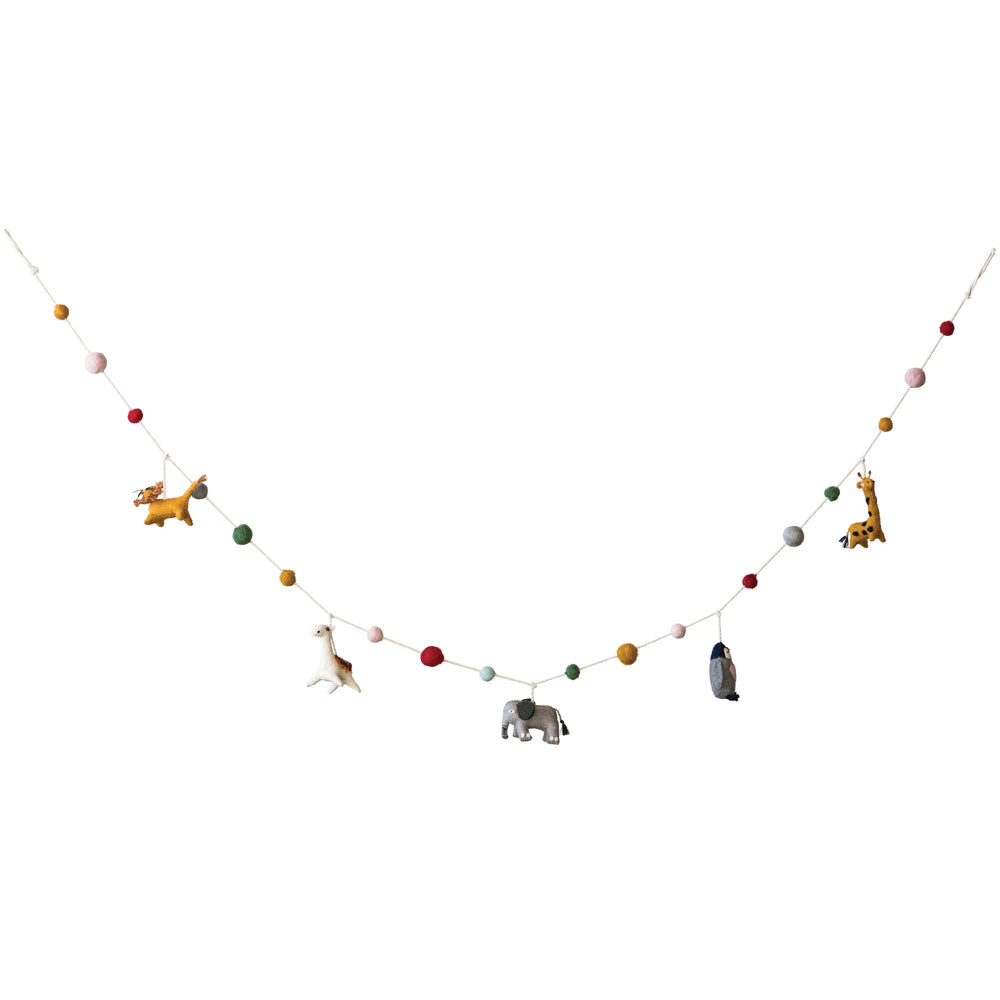 Load image into Gallery viewer, MULTICOLOR WOOL FELT ANIMAL SHAPED GARLAND