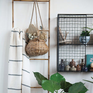 Load image into Gallery viewer, HANDWOVEN RATTAN HANGING BASKET