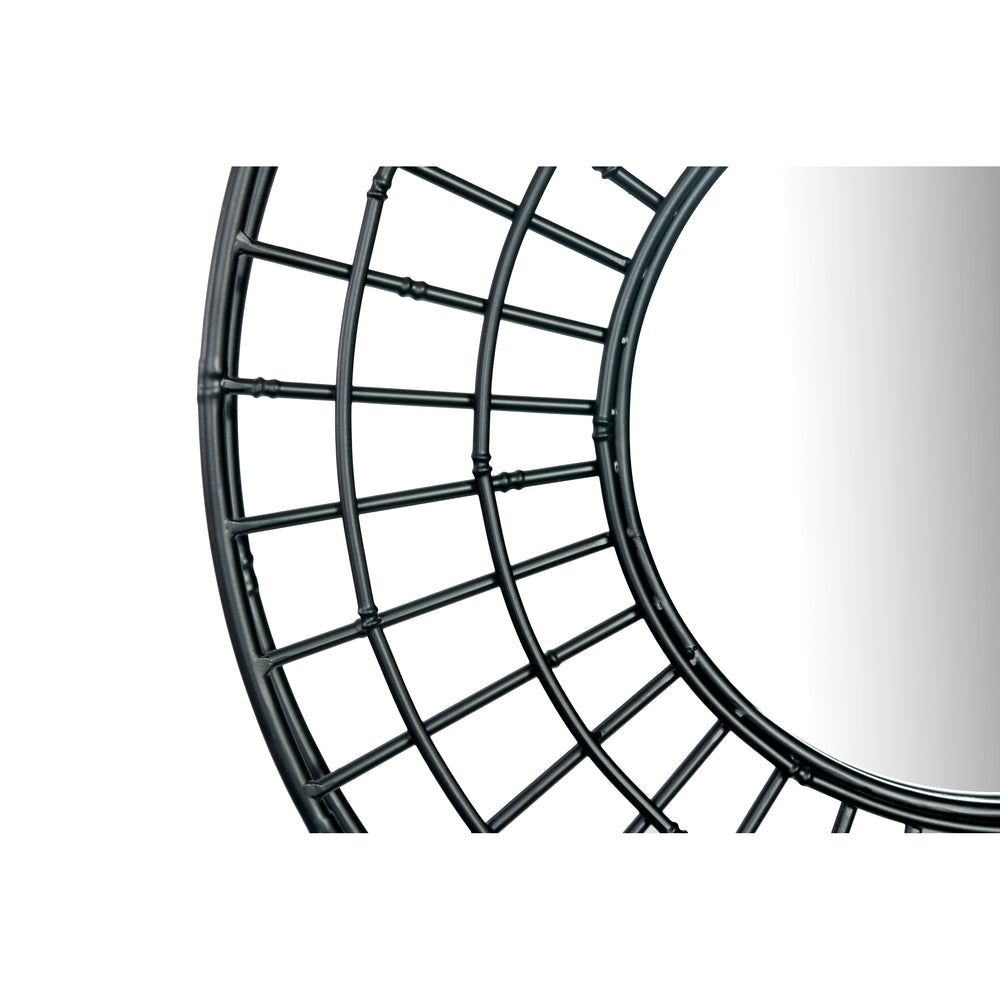 "DECORATIVE 24"" ROUND METAL WALL MIRROR"