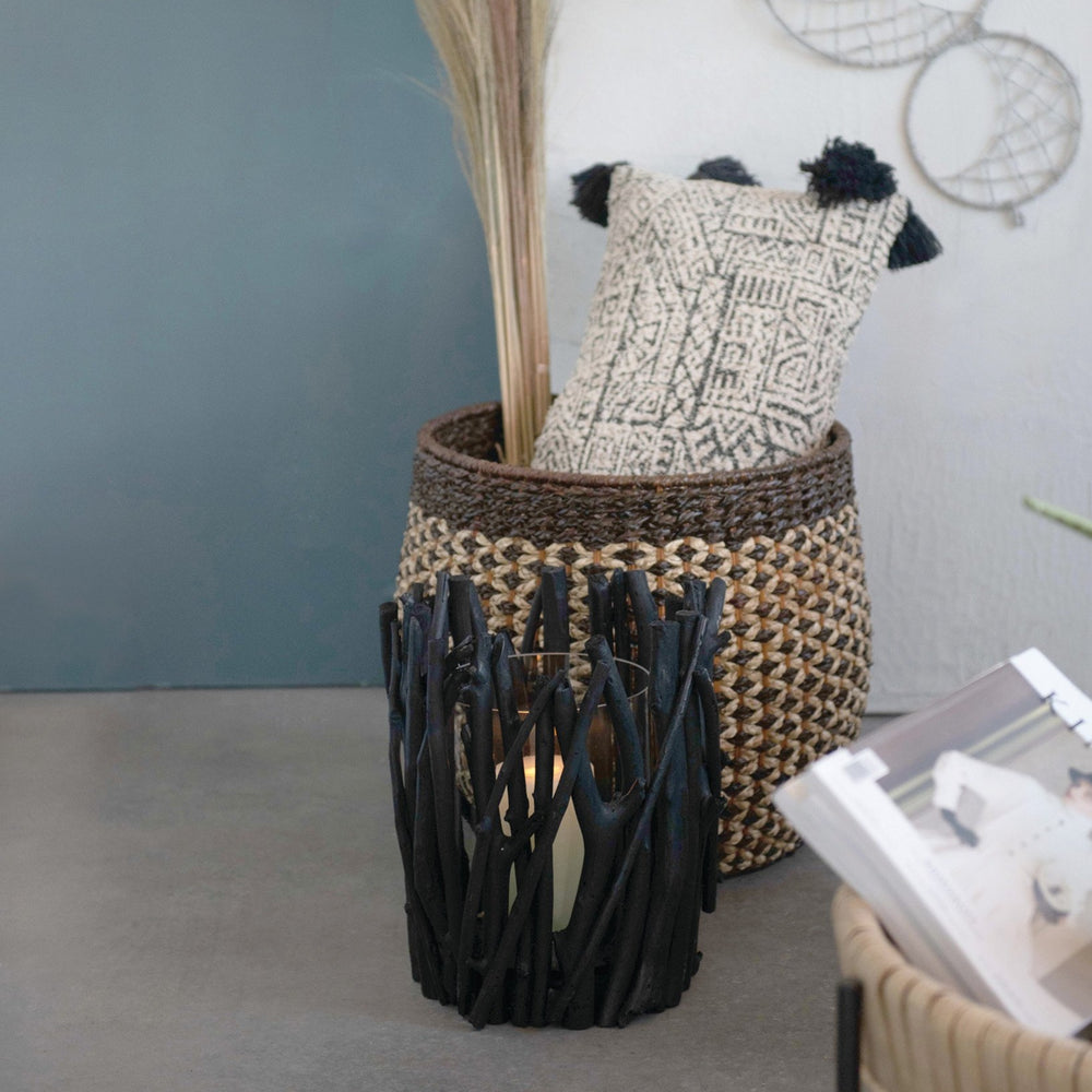"Load image into Gallery viewer, 16""H & 20""H HANDWOVEN PANDAN & RATTAN BASKETS (SET OF 2 SIZES)"