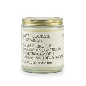 ASTROLOGICAL STORMING (SANDALWOOD & INCENSE) COCONUT SOY CANDLE