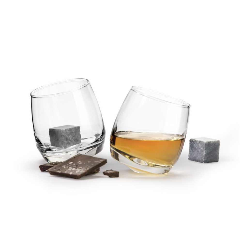 CLUB ROCKING TUMBLER WITH DRINK STONE, 2 PACK