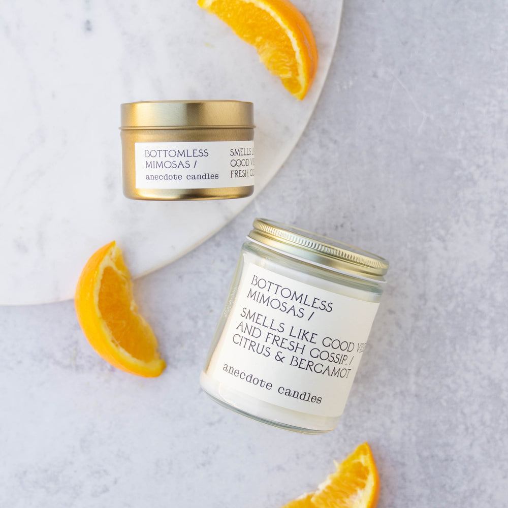 BOTTOMLESS MIMOSAS (CITRUS & BERGAMOT) COCONUT SOY CANDLE