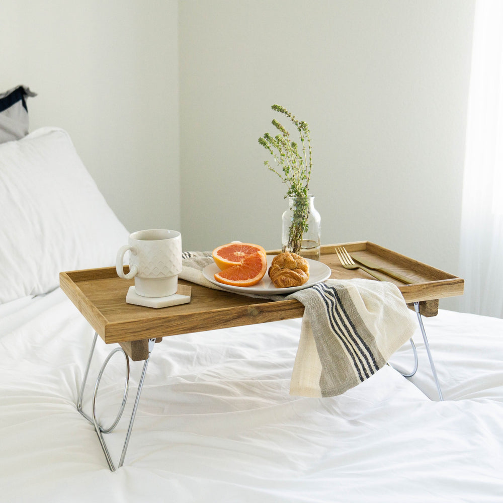 NATURE BED TRAY WITH FOLDING LEGS