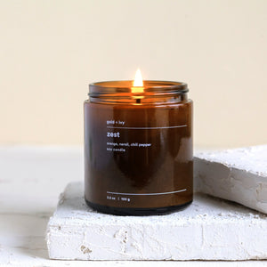 Load image into Gallery viewer, ZEST 3.5 OZ SOY CANDLE