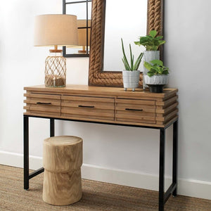 WOOD LOGAN CONSOLE TABLE