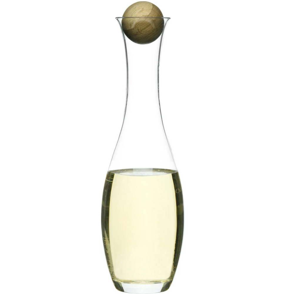 Load image into Gallery viewer, NATURE WINE & WATER CARAFE W/ OAK STOPPER