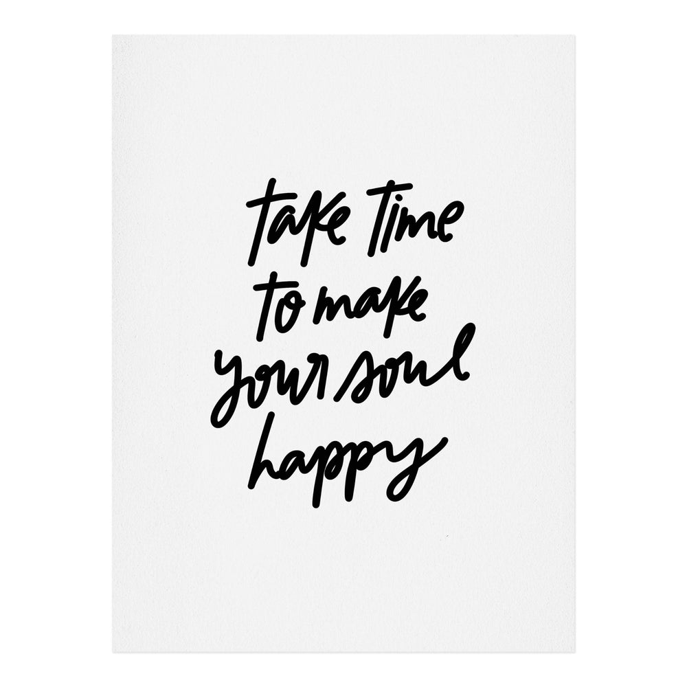 CHELCEY TATE MAKE YOUR SOUL HAPPY ART PRINT