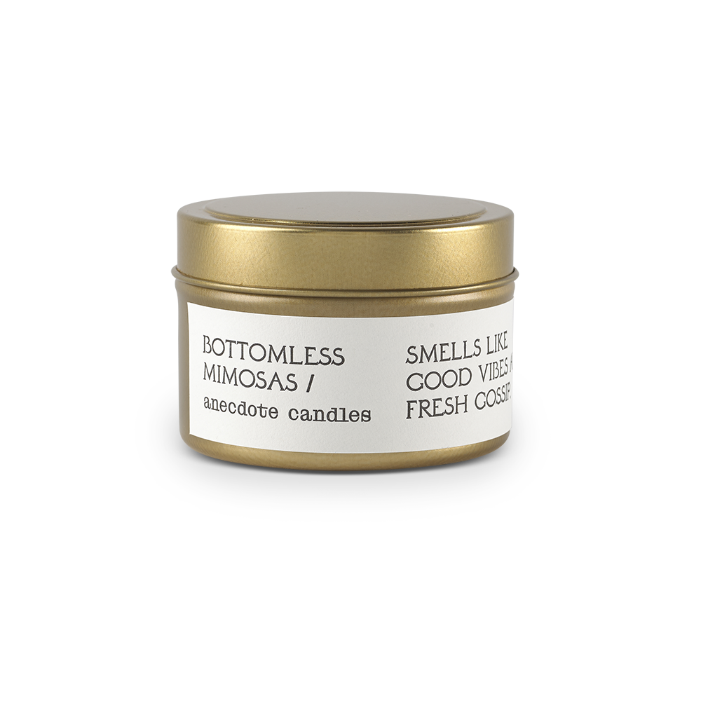 BOTTOMLESS MIMOSAS (CITRUS & BERGAMOT) TRAVEL TIN CANDLE