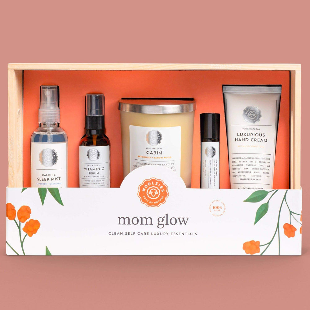 MOM GLOW SELF CARE LUXURY ESSENTIALS GIFT BOX